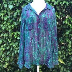 Guess abstract print lightweight tunic. Sz XL